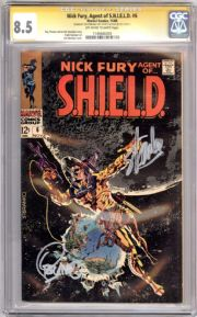 Nick Fury Agent Of Shield #6 CGC 8.5 Signature Series Signed Stan Lee Jim Steranko Marvel